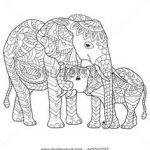 Elephant Coloring Pages for Adults Beautiful 175 Best Elephant Coloring Pages for Adults Images In 2019