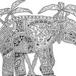 Elephant Coloring Pages for Adults Brilliant Coloring Plex for Adults Print Out Hard Animal Coloring Pages