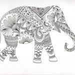 Elephant Coloring Pages for Adults Creative Coloring Page Animaux Fantastiques Elephant Coloring Page