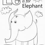 Elephant Coloring Pages for Adults Exclusive Letter E is for Elephant Coloring Page for Letter E Coloring