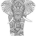 Elephant Coloring Pages for Adults Inspirational Aztec Elephant Hand Drawing Detail Graphic Art Hand Drawing