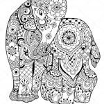 Elephant Coloring Pages for Adults Inspirational Elephant Coloring Pages for Adults Lovely Elephant Abstract Doodle