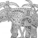 Elephant Coloring Pages for Adults Inspired Elephant Coloring Pages for Adults Best Elephant Drawings Color