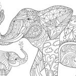 Elephant Coloring Pages for Adults Inspired Free Adult Coloring Pages