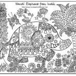 """Elephant Coloring Pages for Adults Marvelous Coloring Pages for Grown Ups"""" Google Search Hobbies"""