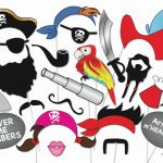Emoji Mask Printable New Pirate Mask Template Awesome Pirate Party Booth Props Set 22 Piece