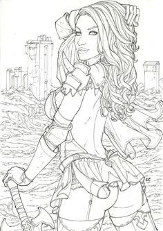 Erotic Coloring Pages Marvelous 931 Best Beautiful Women Coloring Pages for Adults Images In 2019