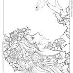 Faerie Coloring Pages Amazing Mermaid Coloring Pages Adults