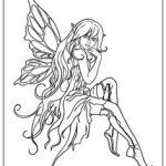Faerie Coloring Pages Awesome 264 Best Fairie and Elf Coloring Pages Images In 2019