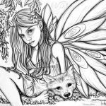 Faerie Coloring Pages Exclusive Gothic Fairy Coloring Pages Printable