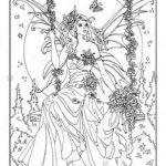 Faerie Coloring Pages Inspired 264 Best Fairie and Elf Coloring Pages Images In 2019