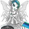 Faerie Coloring Pages Wonderful Gothic Fairy Coloring Pages Printable