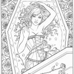Fantasy Adult Coloring Pages Marvelous Coloring Page Fantasy Coloring Pages Gothic Page for Adults