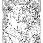 Fantasy Adult Coloring Pages Wonderful Fairy Princess Lolly Herbleonhard Fairies Fantasy Fairy Magic