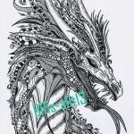 Fantasy Coloring Pages for Adults Awesome Coloring Book 48 Dragon Coloring Books for Adults