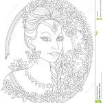 Fantasy Coloring Pages for Adults Excellent Black and White Page for Coloring Fantasy Portrait Beautiful