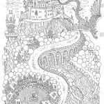 Fantasy Coloring Pages for Adults Inspiring Fantasy Landscape Dragon Fairy Tale Me Val Stock Vector Royalty