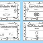 Father Day Colouring Pictures Wonderful Colouring Fathers Day Certificates Awards Dad Father Reward