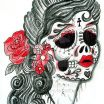 Female Sugar Skull Pictures Marvelous Mexican Flag Paintings Search Result at Paintingvalley