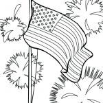 Fire Works Coloring Pages Awesome American Flag for Coloring – Siriusprint