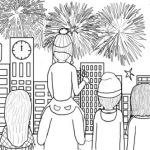 Fire Works Coloring Pages Fresh New Year Celebration Firework Coloring Page Kids Drawing