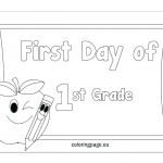 First Day Of School Coloring Pages Amazing First Grade Coloring Page – 488websitedesign