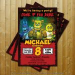Five Nights at Freddy's Bonnie Pictures Awesome 86 Five Nights at Freddys Birthday Invitation Template Five