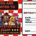 Five Nights at Freddy's Bonnie Pictures Awesome 89 Five Nights at Freddys Birthday Invitation Template Size