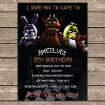 Five Nights at Freddy's Bonnie Pictures Best Of 89 Five Nights at Freddys Birthday Invitation Template Size