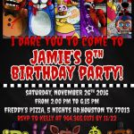 Five Nights at Freddy's Bonnie Pictures Inspirational 92 Five Nights at Freddys Birthday Invitation Template Five