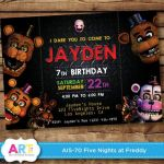 Five Nights at Freddy's Bonnie Pictures Inspirational Five Nights at Freddys Birthday Invitation Template