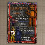 Five Nights at Freddy's Bonnie Pictures New 89 Free Five Nights at Freddys Birthday Invitations Dont for