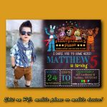 Five Nights at Freddy's Bonnie Pictures New 92 Five Nights at Freddys Birthday Invitation Template Five