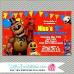 Five Nights at Freddy's Bonnie Pictures Unique 94 Free Five Nights at Freddys Birthday Invitations Five Nights