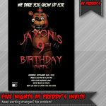 Five Nights at Freddy's Foxy Pictures Elegant 96 Five Nights at Freddys Birthday Invitation Template Five