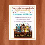 Five Nights at Freddy's Foxy Pictures Excellent 94 Free Five Nights at Freddys Birthday Invitations Five Nights