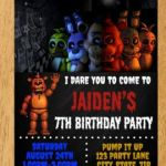 Five Nights at Freddy's Foxy Pictures Inspiring 94 Free Five Nights at Freddys Birthday Invitations Five Nights