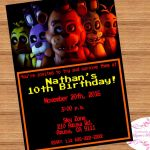 Five Nights at Freddy's Foxy Pictures Wonderful 90 Five Nights at Freddys Birthday Invitation Template Five