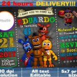 Five Nights at Freddy's Pictures Foxy Inspirational 96 Five Nights at Freddys Birthday Invitation Template Five