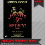 Five Nights at Freddy's Pictures Foxy New 90 Five Nights at Freddys Birthday Invitation Template Five