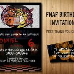 Five Nights at Freddy's Pictures Foxy New 94 Free Five Nights at Freddys Birthday Invitations Five Nights