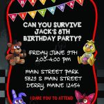 Five Nights at Freddy's Pictures Foxy New 96 Five Nights at Freddys Birthday Invitation Template Five