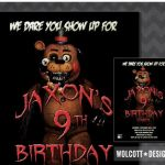 Five Nights at Freddy's Printables Exclusive 90 Five Nights at Freddys Birthday Invitation Template Five