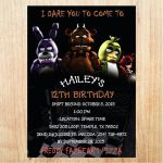 Five Nights at Freddy's Printables Exclusive 94 Free Five Nights at Freddys Birthday Invitations Five Nights