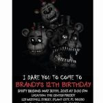 Five Nights at Freddy's Printables Inspiration 94 Free Five Nights at Freddys Birthday Invitations Five Nights