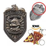 Five Nights Of Freddy Pictures Unique Silver Five Nights at Freddy S Fnaf Fazbear Security Badge Pin with