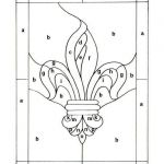 Fleur De Lis Coloring Page Awesome Simple Stained Glass Patterns Printable