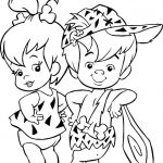 Flintstone Coloring Book Inspiration Coloring Pages Of Baby Girls