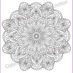 Flower Coloring Pages Pdf Inspirational Mandala Coloring Page for Adult Pdf Doodle Zentangle Art Pattern