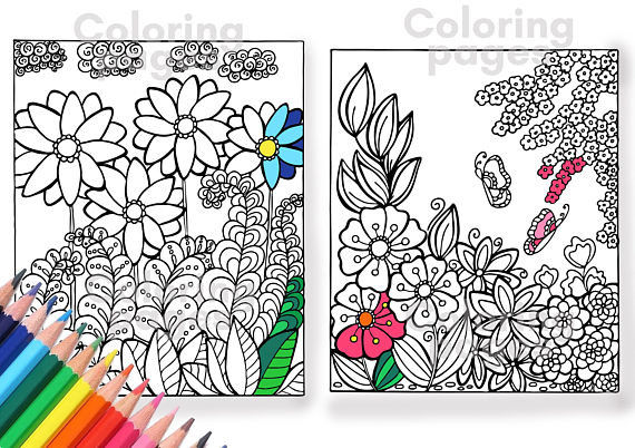 Coloring pages pdf flower coloring pages color page coloring pages